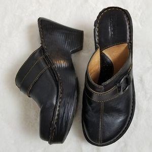 Born Leather Heel Clog